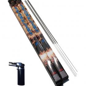 36 Inch Sparkler & Lighter Bundle